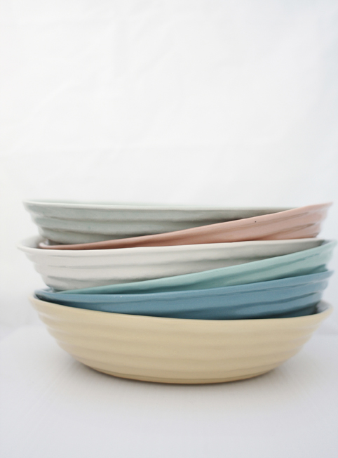 Ribbed Bowls - Factory Ceramics Waiheke - Ceramic Tableware Handmade in NZ & Ribbed Bowls - Factory Ceramics Waiheke - Ceramic Tableware Handmade ...